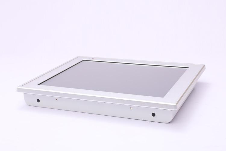 工业平板电脑侧面的嵌入式安装孔与无线天线