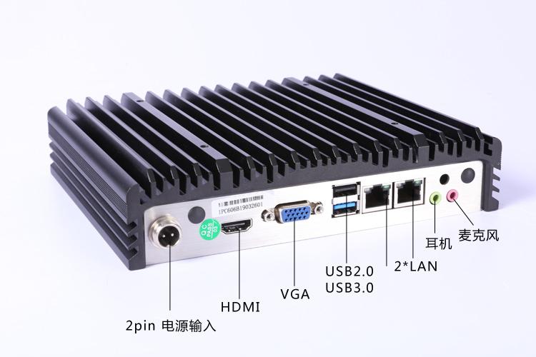 ubuntu乌班图嵌入式工业电脑 支持4G通讯的工控机 IPC-606B背面