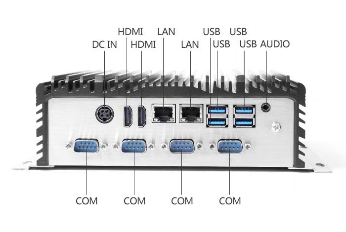 高性能IPC-807A工控机背面接口图