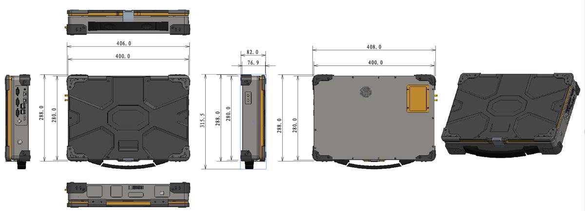 急便携式收费机尺寸图